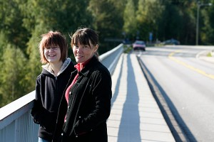 Katselijoita Leppävirran sillalla