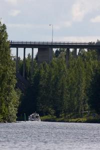 Leppävirran silta kanootista