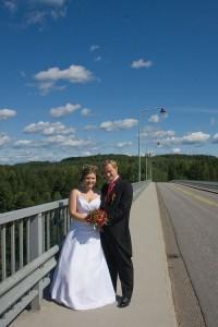 Hääkuva Leppävirran sillalla