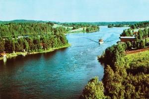 Postikortti kuvattuna Leppävirran sillalta