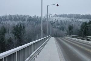Huurteinen Leppävirran silta