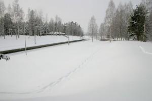 Konnuksen kanava talvella