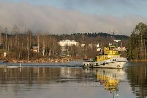Hinaaja Olli kurvaa Virransaaren vieressä