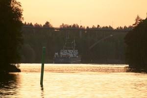 Venäläinen laiva matkaa kohti Kuopiota