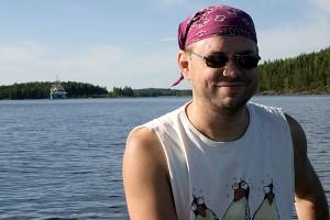Koriangi laiva kääntyy Mustikkavuoren vieressä kohti Kuopiota