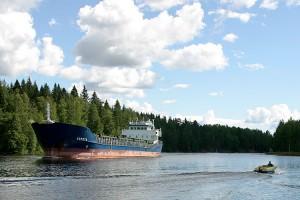 Venäläinen laiva Leppävirrassa