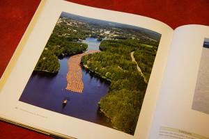 Kuva Leppävirrasta Suomi ilmasta kirjassa