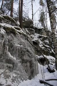 Leppävuoren jäisiä kallioita