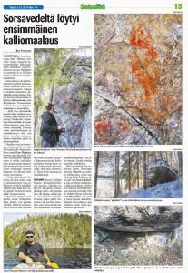 Ukkokiven kalliomaalaus merkitty muinaisjäännösrekisteriin