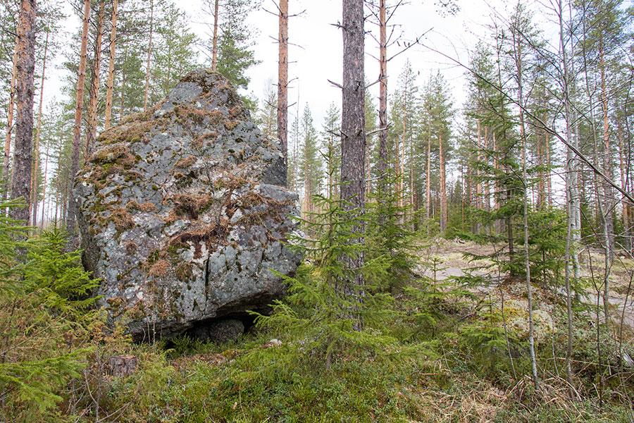 Ensimmäinen vastaan tullut  megaliittikivi