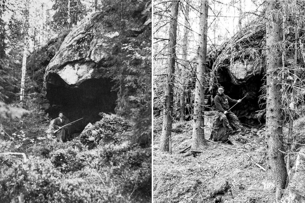 Repovuoren luola - vanha/uus kuvapari