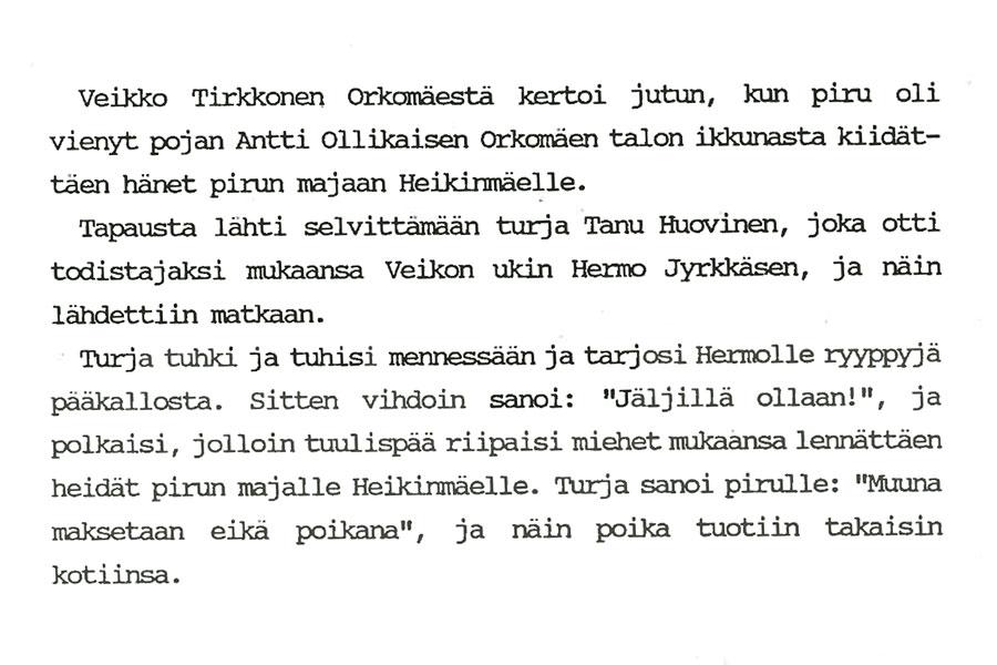 Tarina Heikinmäen pirusta