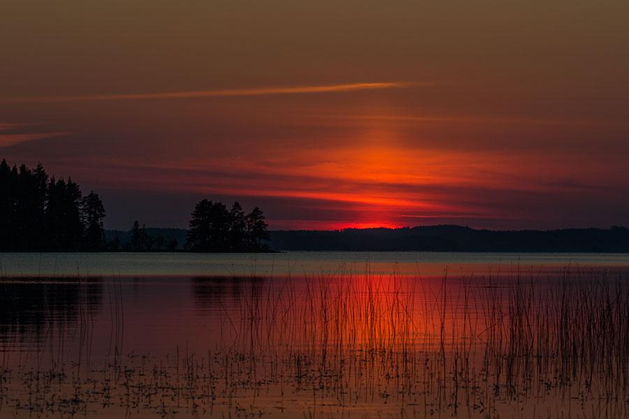Auringonlasku Virmaalla