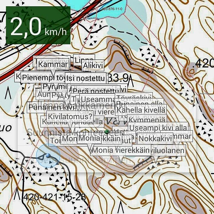 Syvävuoren karttamerkit