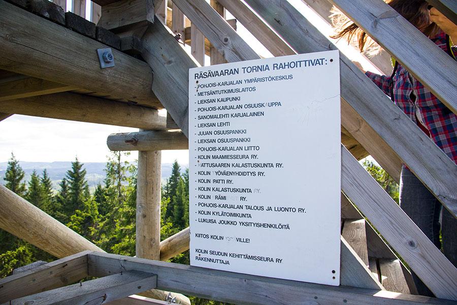 Räsävaaran näkötorni, Lieksa