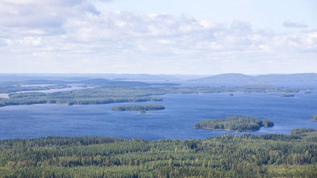 Näkymä Räsävaaralta, Lieksa