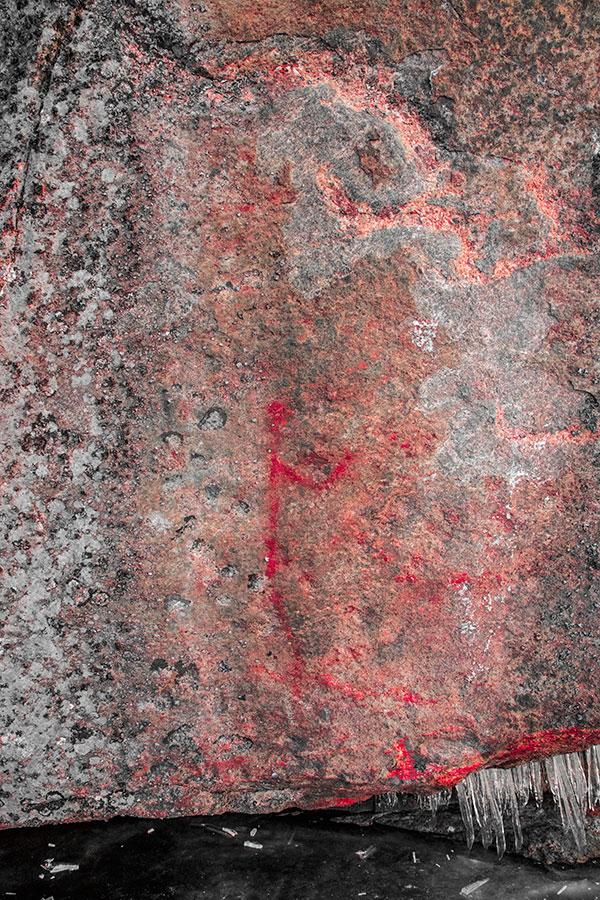 Papinsänky kalliomaalaus, Syysjärvi, Juva