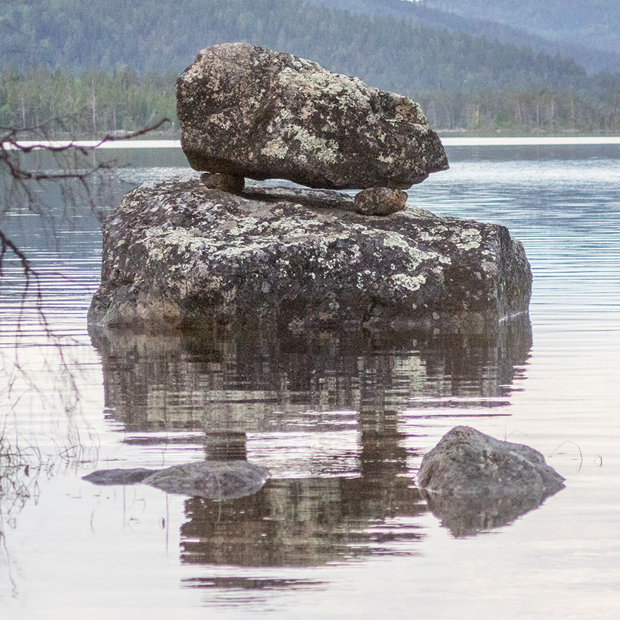 Päälyskivi ja Ukko, Konesniemi, Ivalo