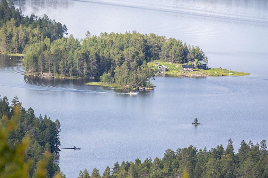 Näkymä Juppuravaaralta Nuora-Juhaniin, Inari