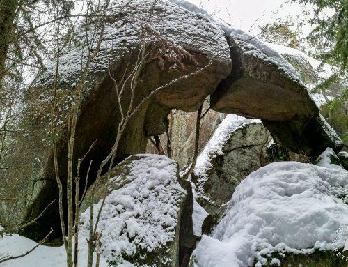 Lumikenkäillen Putelon pirunportille ja torpalle, Porosalmi, Rantasalmi