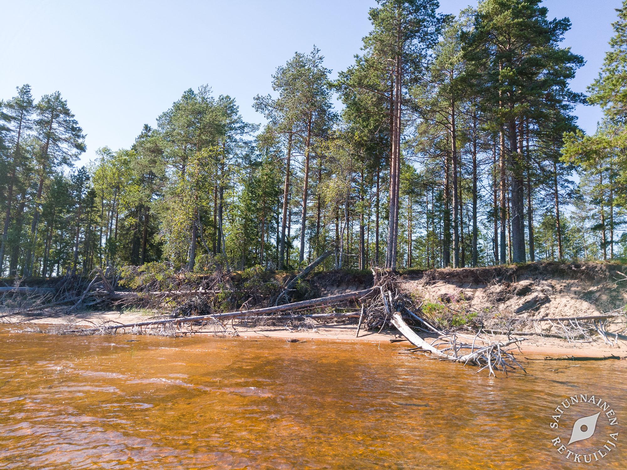 Pitkan Kuuman Kesan Rantaloma Manamansalon Hiekoilla Oulujarvi