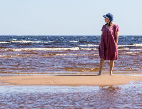 Pitkän kuuman kesän rantaloma Manamansalon hiekoilla, Oulujärvi