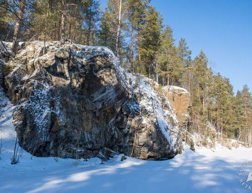 Potkukelkkaretki Kumpusaaren Rajaniemen kalliomaalauksille, Etelä-Konneveden kansallispuisto